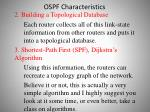 ospf characteristics8