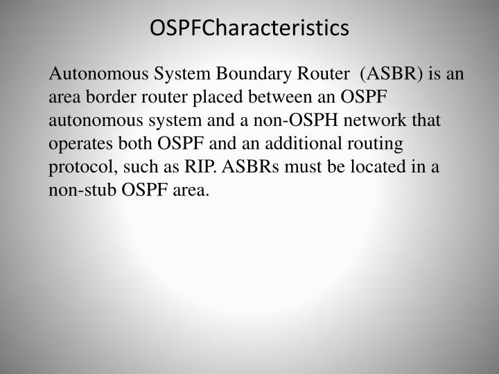 OSPFCharacteristics