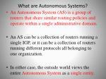 what are autonomous systems