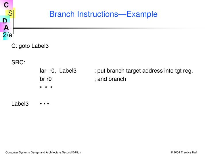 Branch Instructions—Example