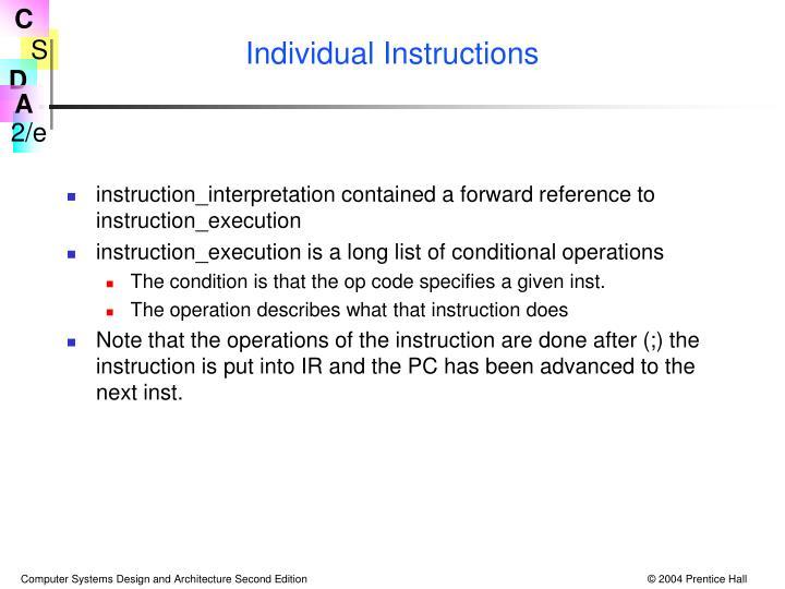 Individual Instructions