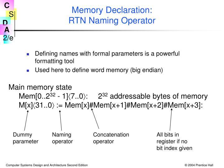 Main memory state