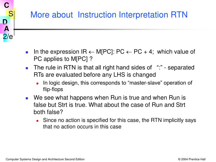 More about  Instruction Interpretation RTN