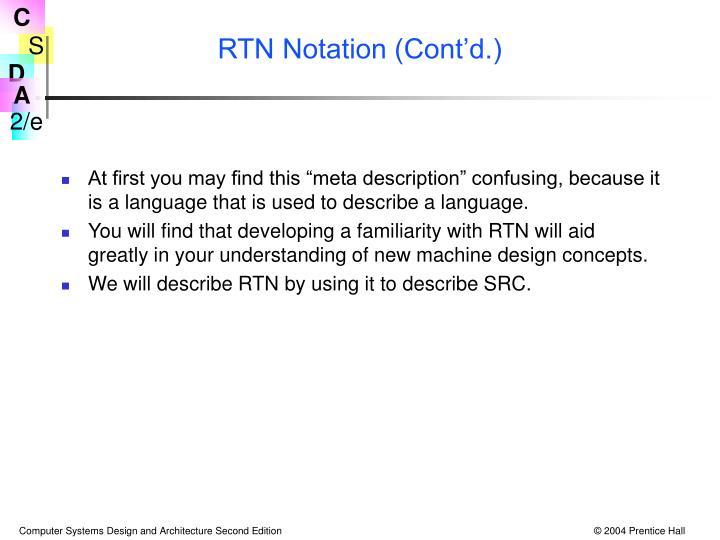 RTN Notation (Cont'd.)