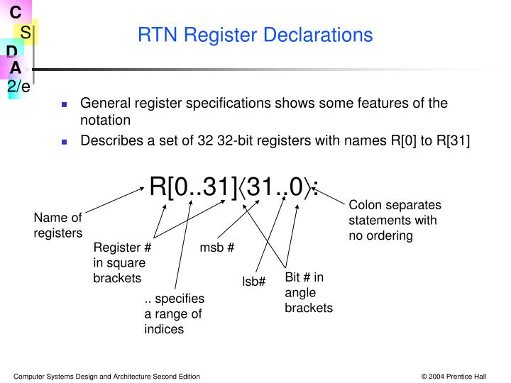 RTN Register Declarations