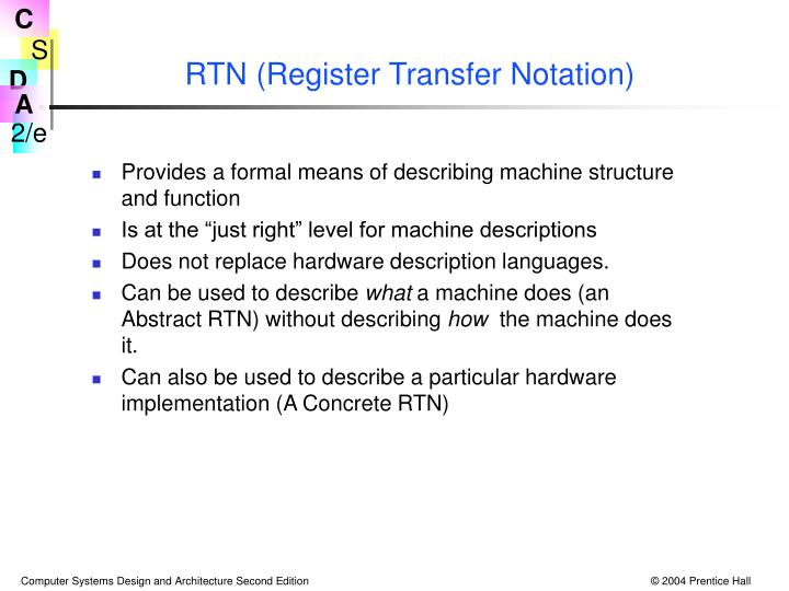 RTN (Register Transfer Notation)