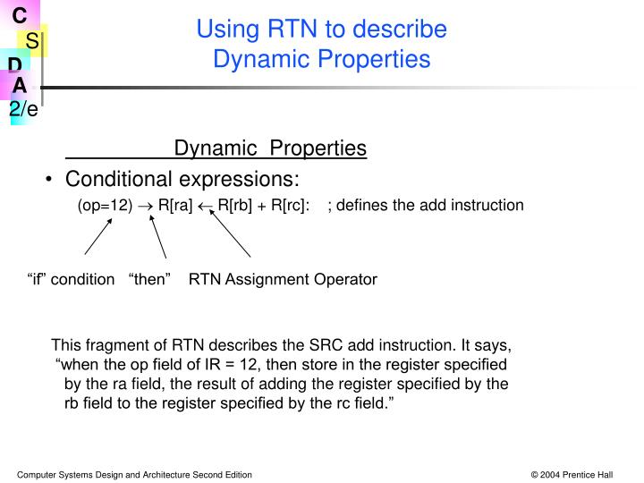 Using RTN to describe