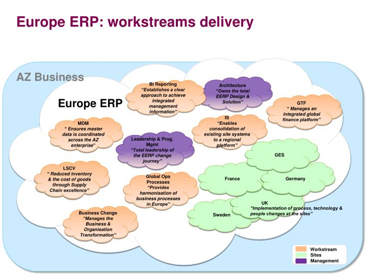 Europe erp workstreams delivery