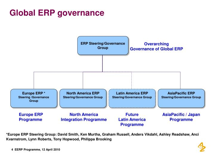 Global ERP governance