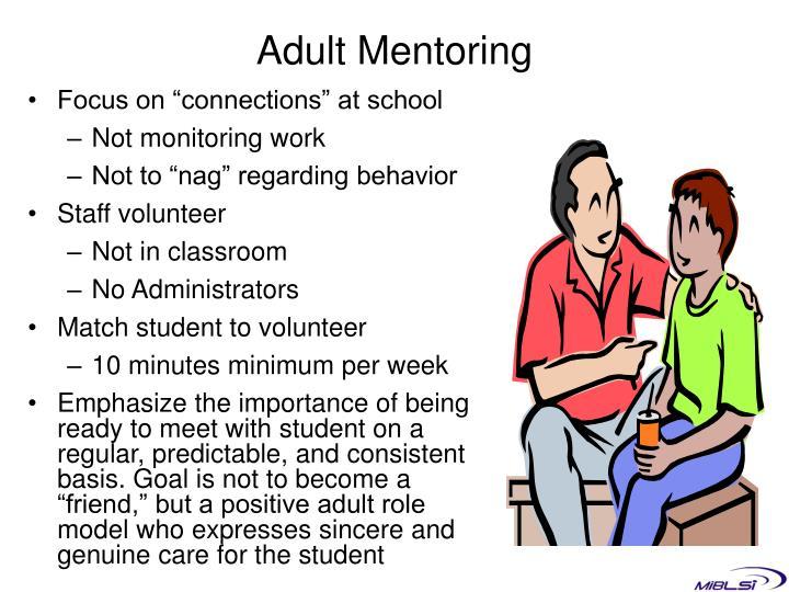 Adult Mentoring