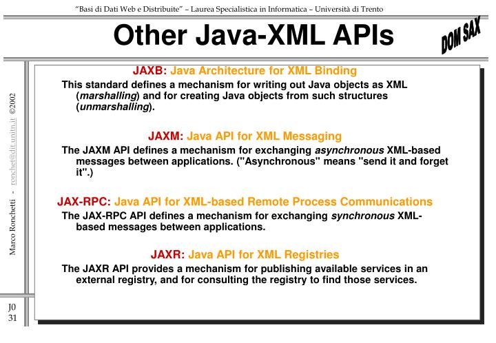 Other Java-XML APIs