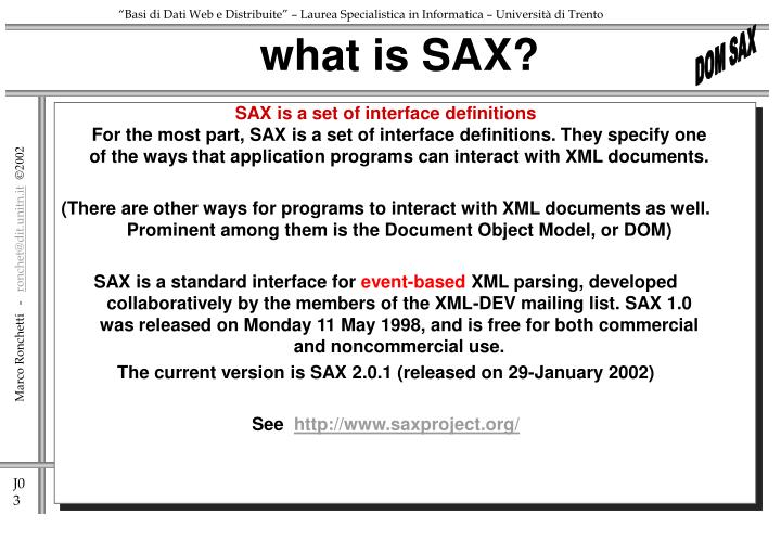 What is sax