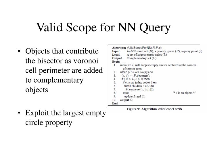 Valid Scope for NN Query