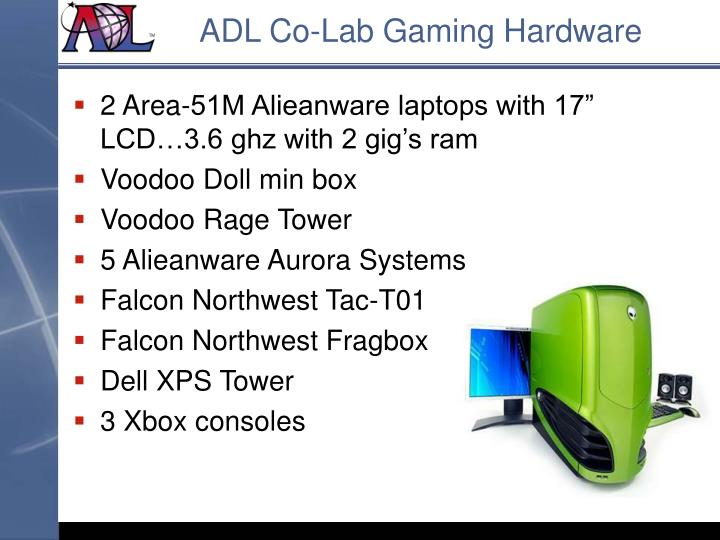 ADL Co-Lab Gaming Hardware