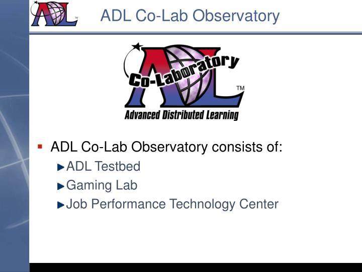 ADL Co-Lab Observatory