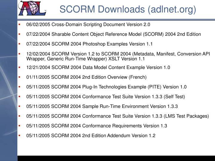 SCORM Downloads (adlnet.org)