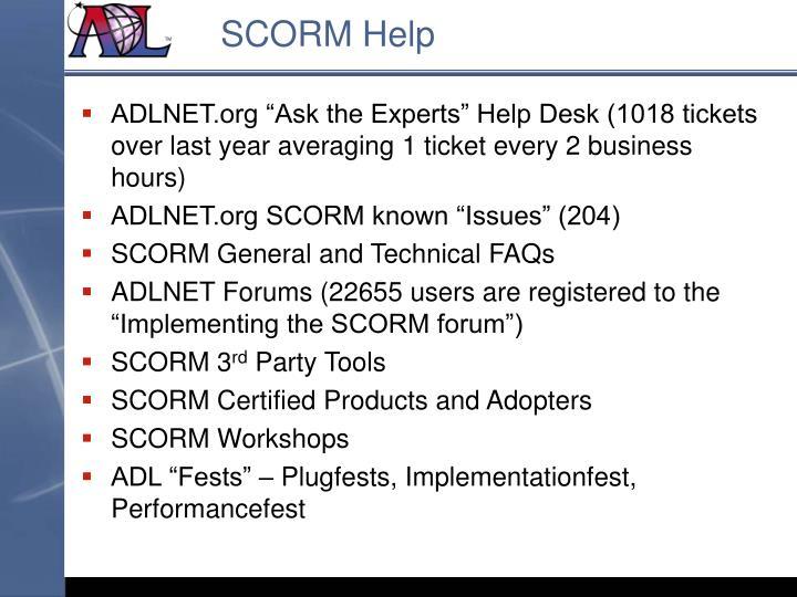SCORM Help