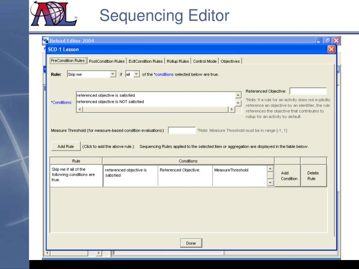 Sequencing Editor
