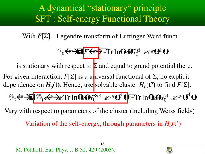 "A dynamical ""stationary"" principle"
