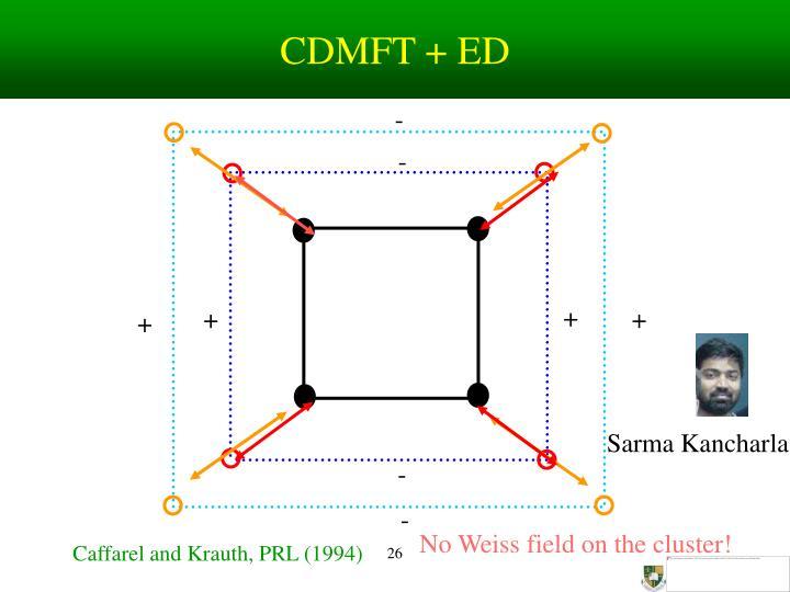 CDMFT + ED