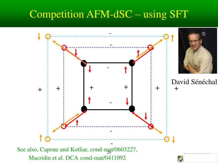 Competition AFM-dSC – using SFT