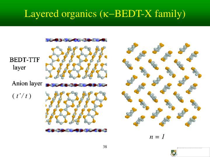 Layered organics (