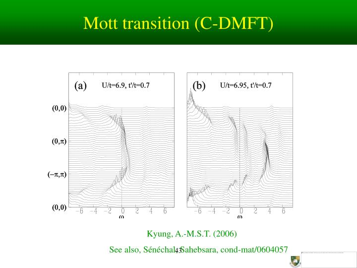 Mott transition (C-DMFT)