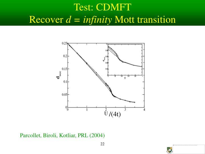Test: CDMFT