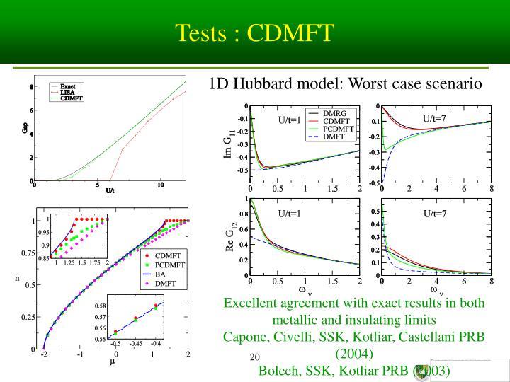 Tests : CDMFT