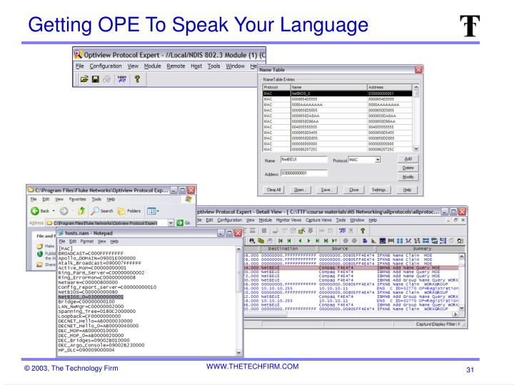 Getting OPE To Speak Your Language