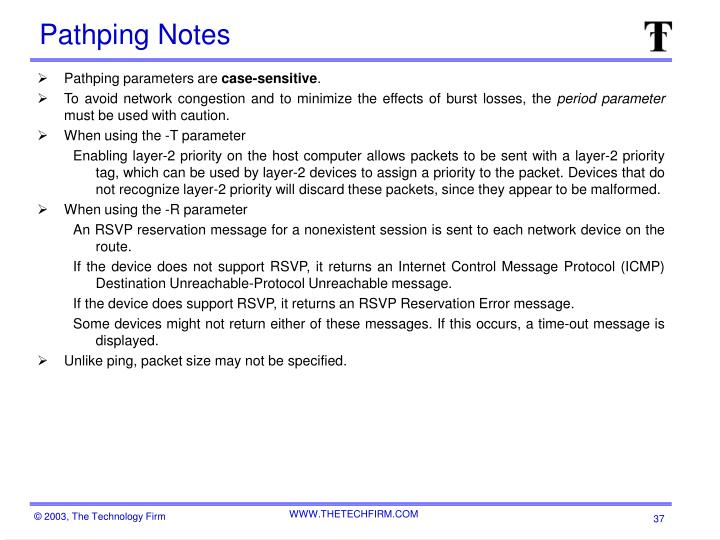 Pathping Notes