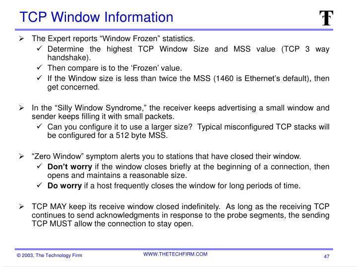 TCP Window Information