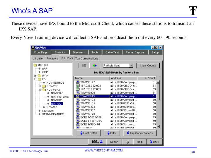 Who's A SAP