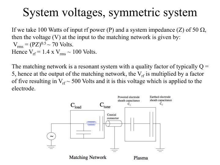 System voltages, symmetric system