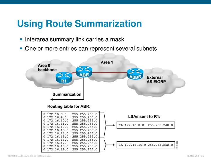 Using Route Summarization