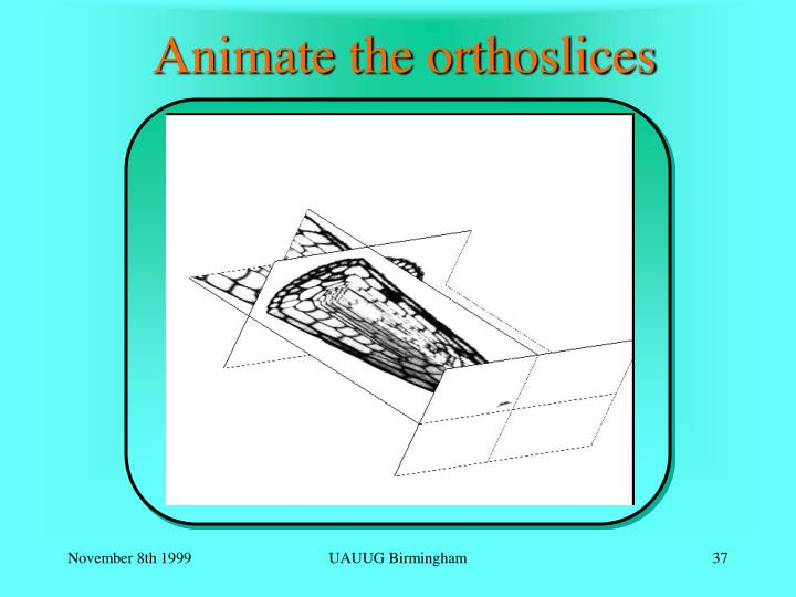 Animate the orthoslices