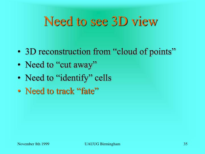 Need to see 3D view