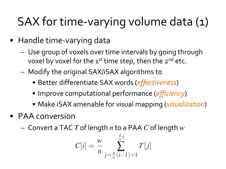 Handle time-varying data