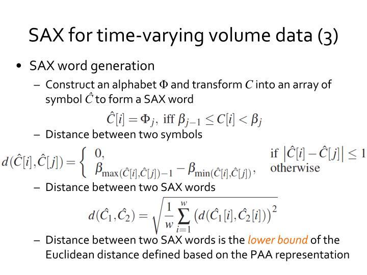 SAX word generation