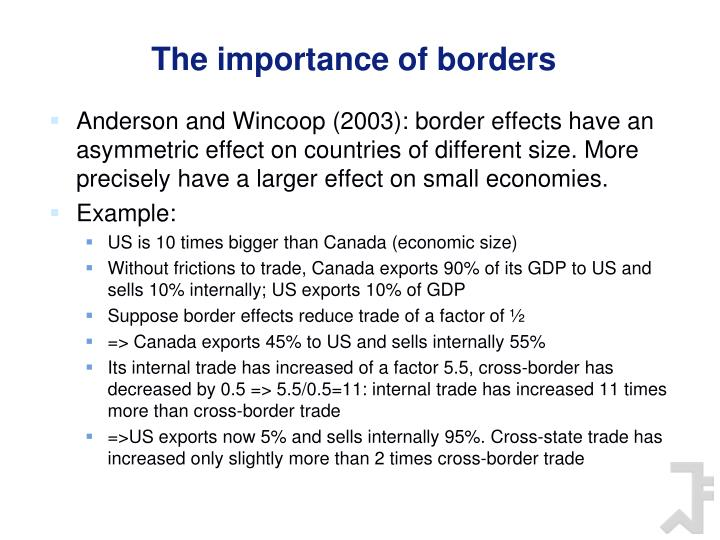 The importance of borders