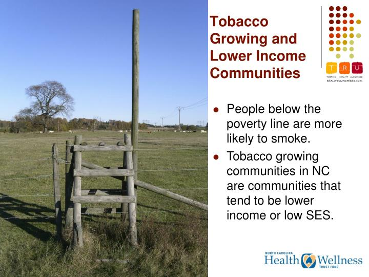 Tobacco Growing and Lower Income Communities