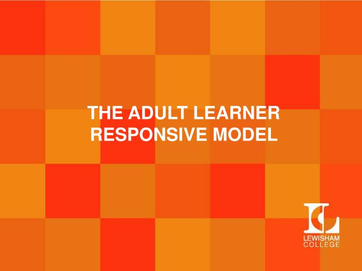 THE ADULT LEARNER