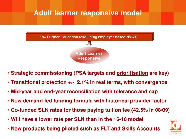Adult learner responsive model