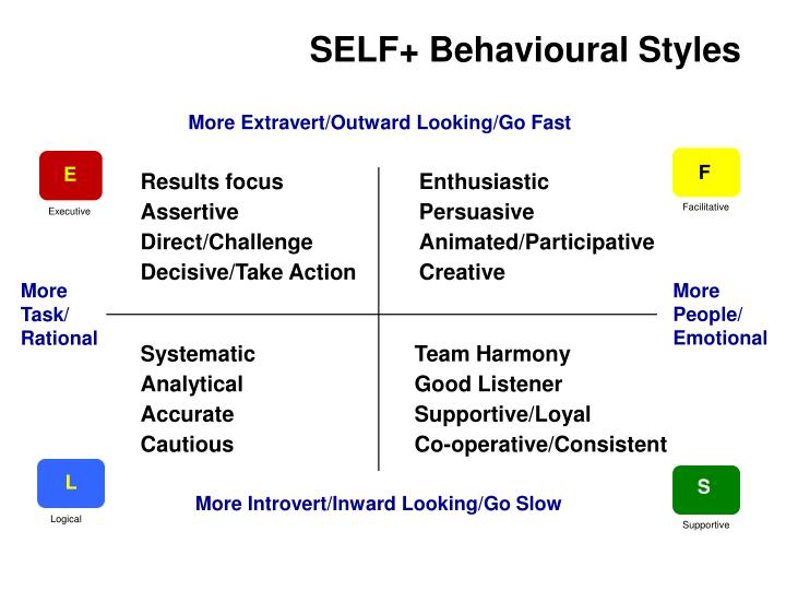 Self behavioural styles