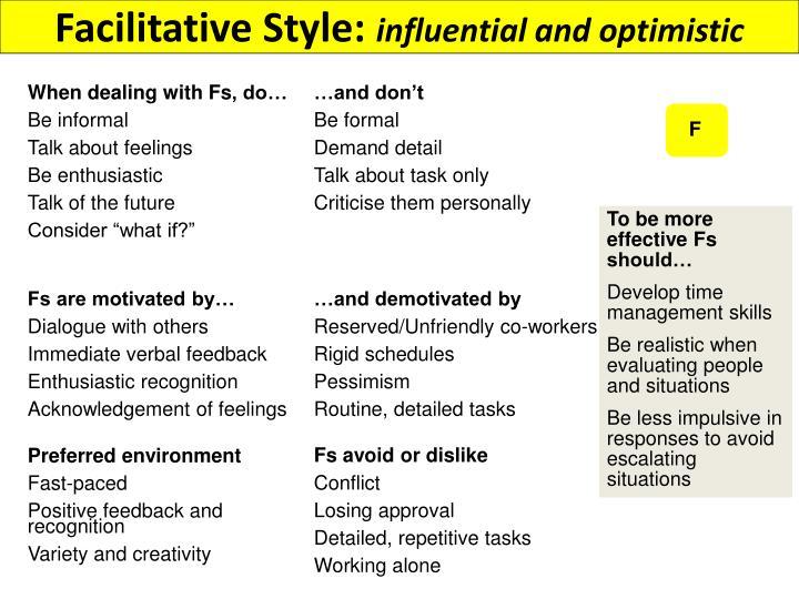 Facilitative Style: