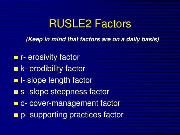 RUSLE2 Factors