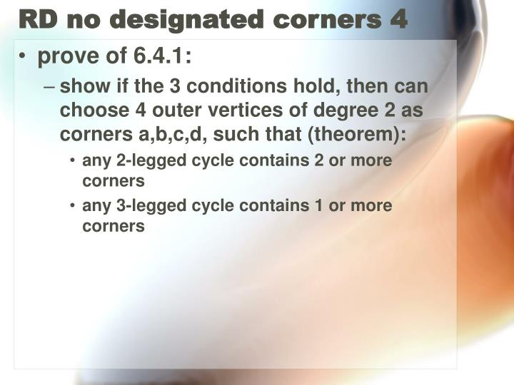 RD no designated corners 4
