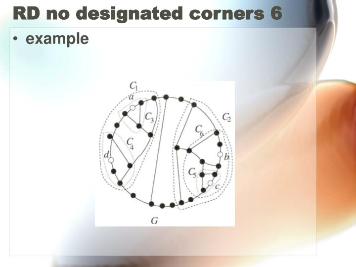 RD no designated corners 6