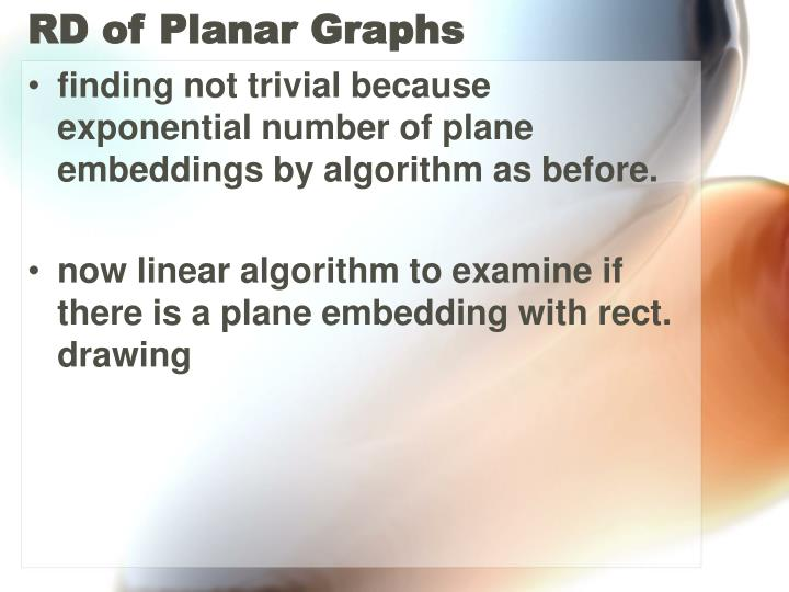 RD of Planar Graphs