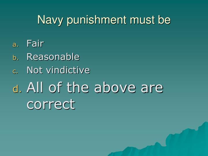 Navy punishment must be
